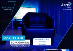 SOFA GAMER PRO AEROCOOL PROJECT 7 BIG SIZE ULTRA CONFORTABLE ESPACIO DE ALMACENAMIENTO INTERIOR