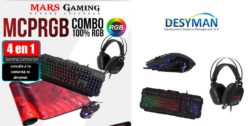 PACK PRO RGB TECLADO ANTI-GHOSTING - MOUSE 6b 4000dpi- HEADSET 50mm - ALFOMBRILLA XXL MARS GAMING MCPRGB