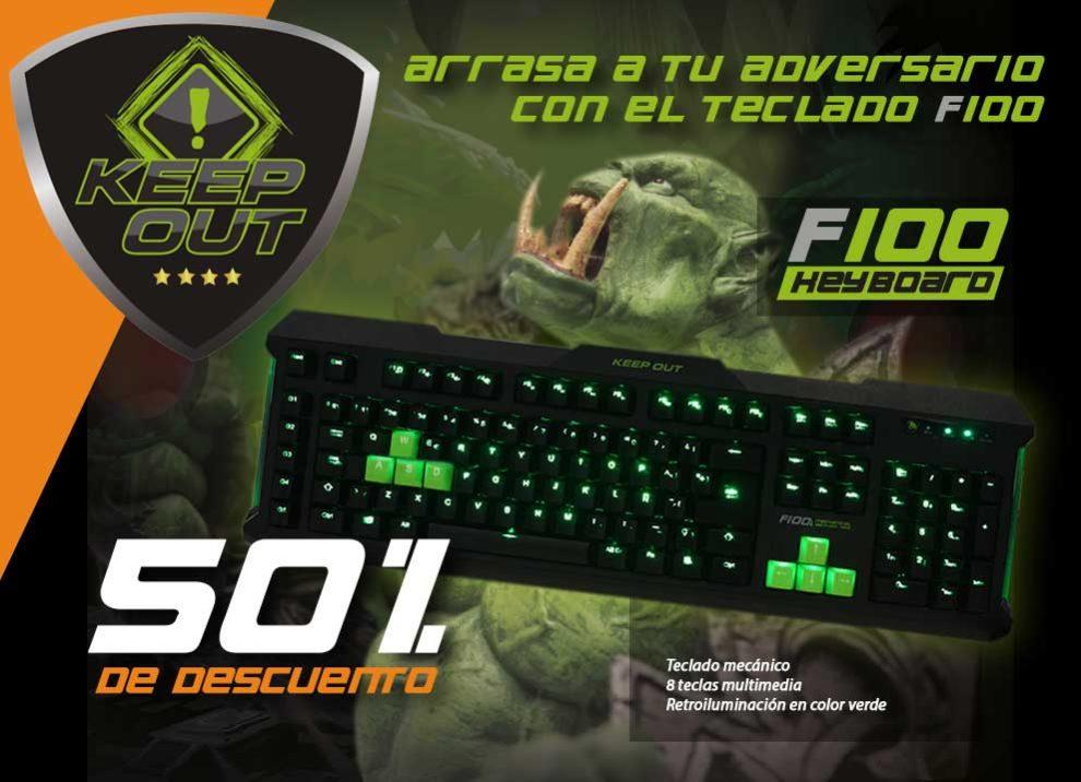 oferta teclado f100 de keepout