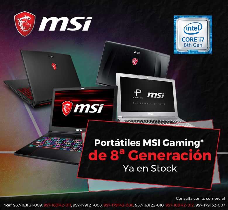 oferta portatiles MSI 8ª generacion