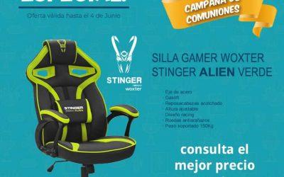 Silla Gamer Woxter Stinger Alien Verde