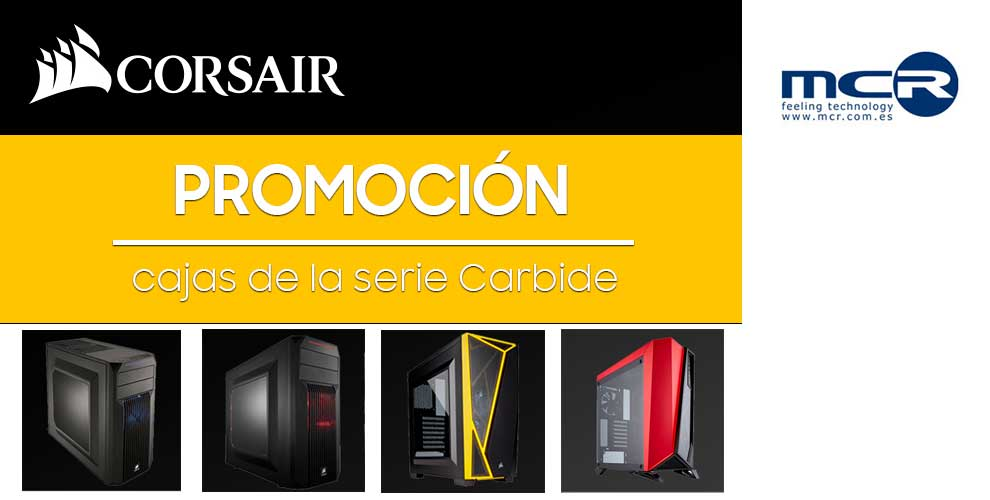 promoción cajas corsair en MCR