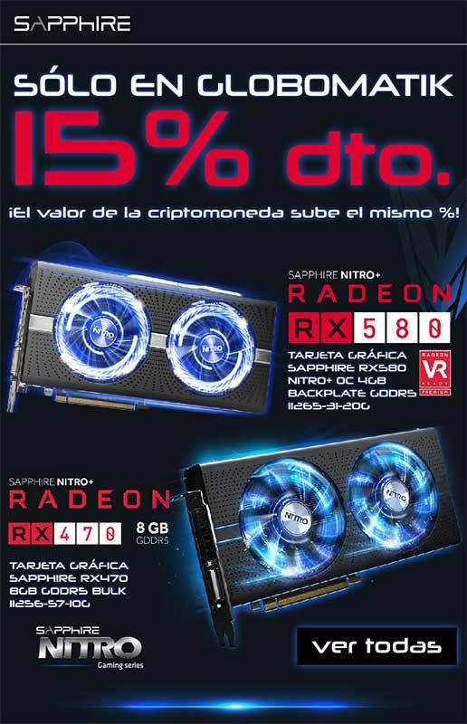 TARJETA GRÁFICA SAPPHIRE RX470 8GB GDDR5 BULK