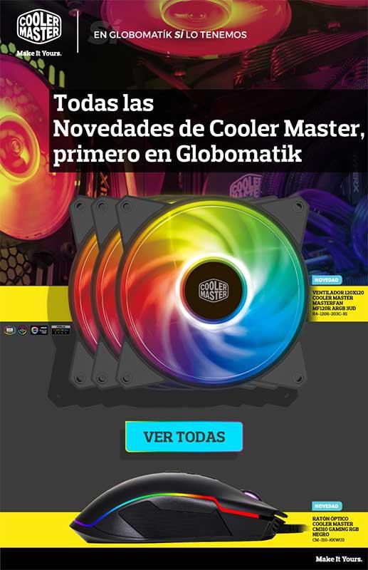 todas las novedades de coolermaster en Globomatik