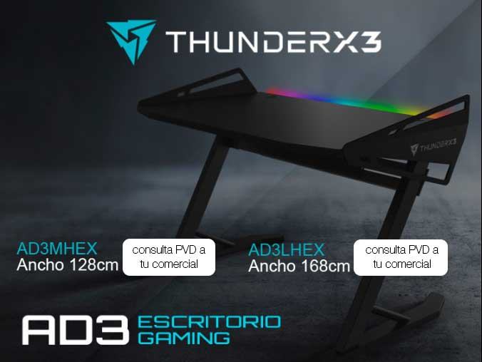 escritorio gaming thunderx3