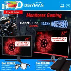 oferta monitor hannspreee con gafas gaming de regalo