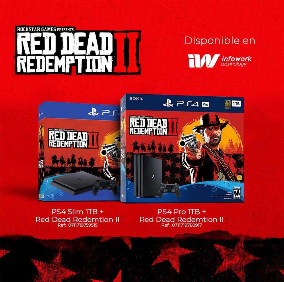 OFERTA PS4 PRO 1TB + RED DEAD REDEMPTION II