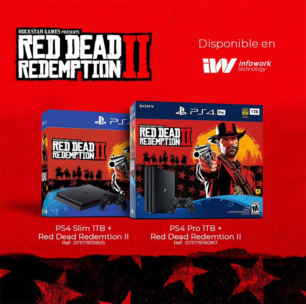 OFERTA PS4 PRO 1TB + RED DEAD REDEMPTION II