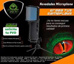 MICROFONO PROFESIONAL KEEP OUT XMICPRO USB CONTROL DE GANANCIA ENTRADA DE AURICULARES