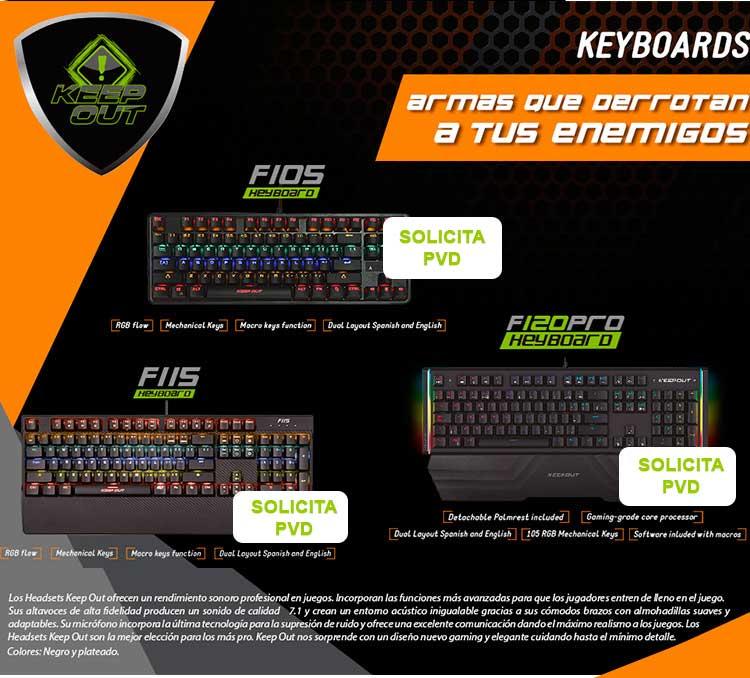 ofertas, novedades y descuentos en teclados gaming