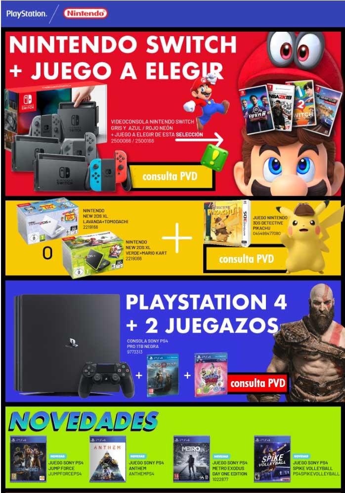 precio especial nintendo y playstation