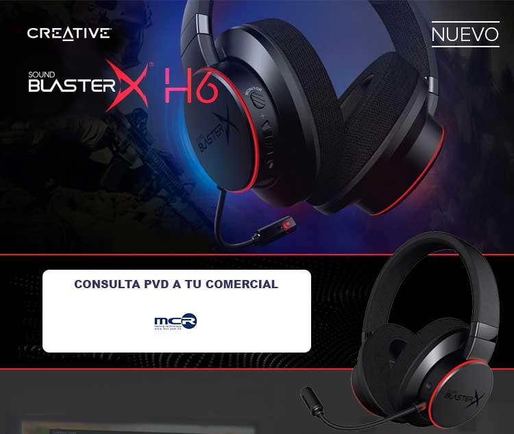 comprar soundblaster X H6