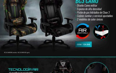 Sillas gaming BC3 Camo de Thunderx3