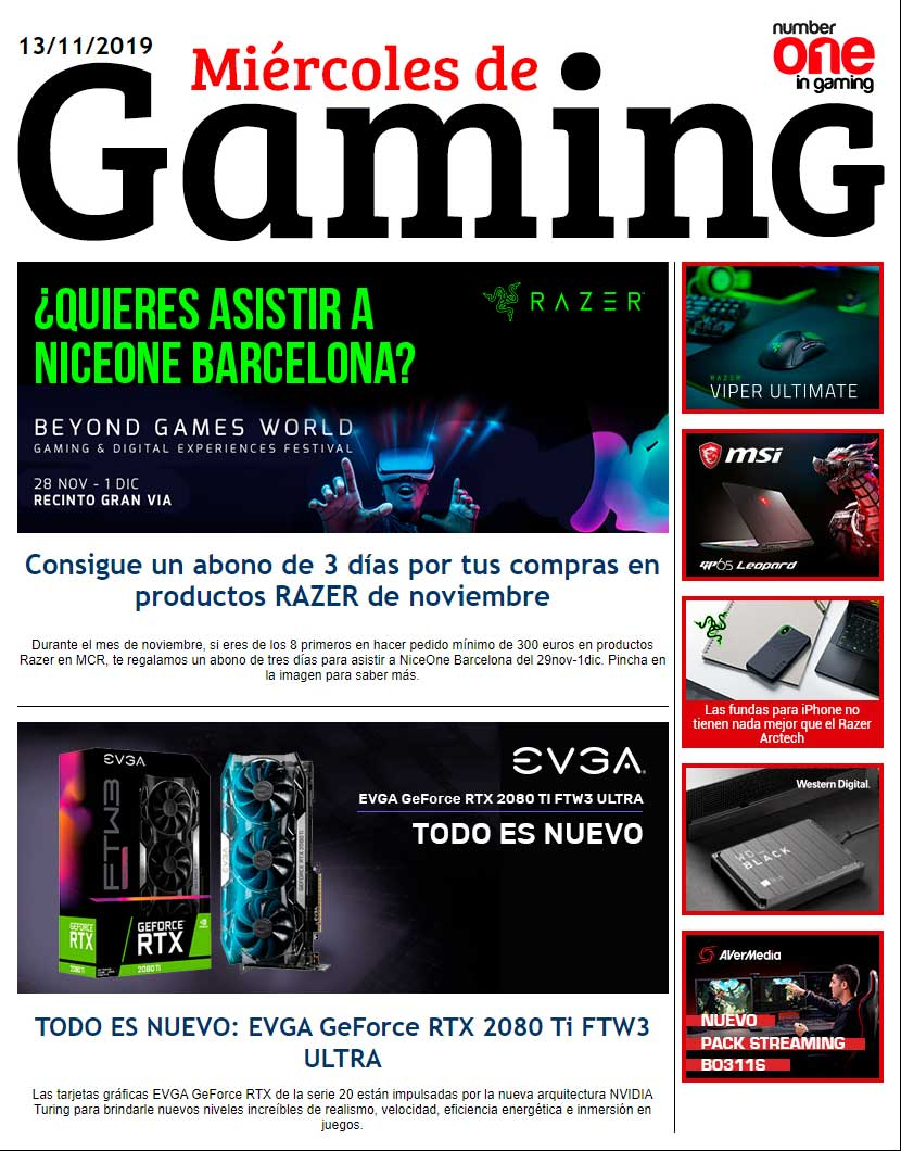 MCR miércoles de gaming
