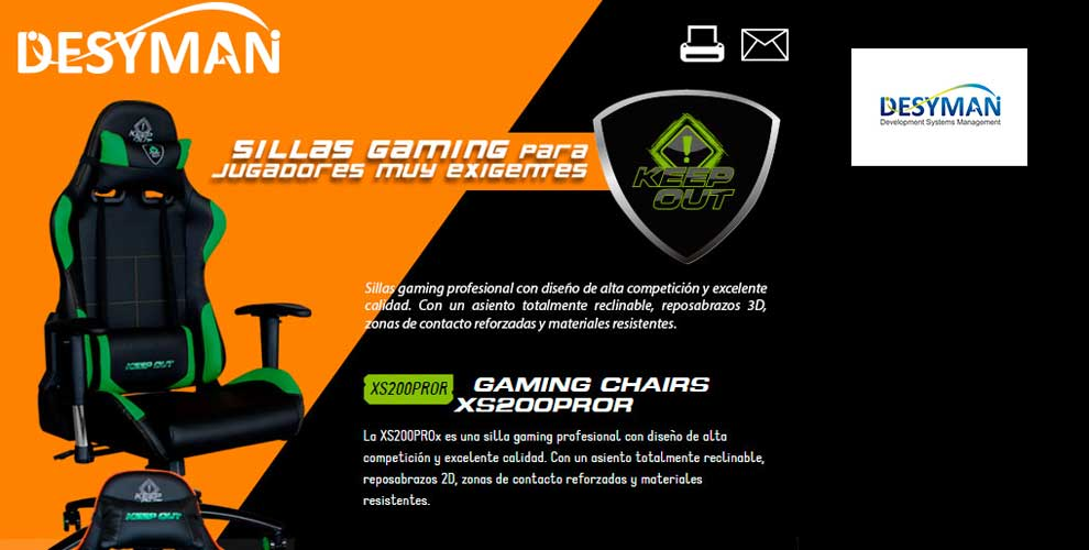 oferta silla gaming keepOut