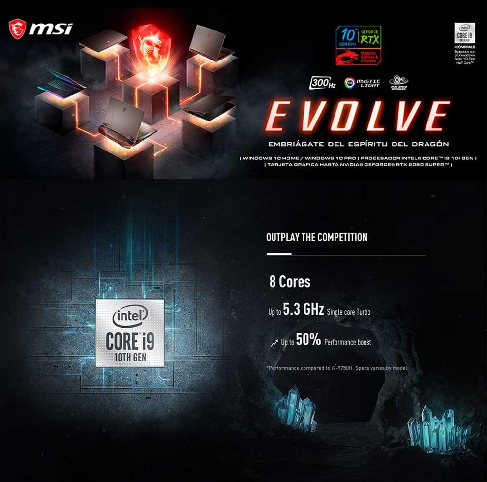 Evoluciona a lo más alto con el revolucionario aumento del 50% de rendimiento en gaming