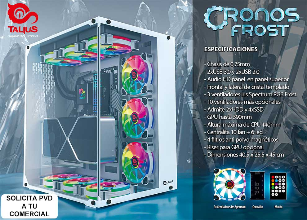 Caja ATX Talius gaming Cronos Frost