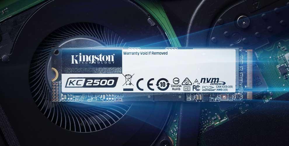 Altas velocidades con la SSD PCIe NVMe KC2500
