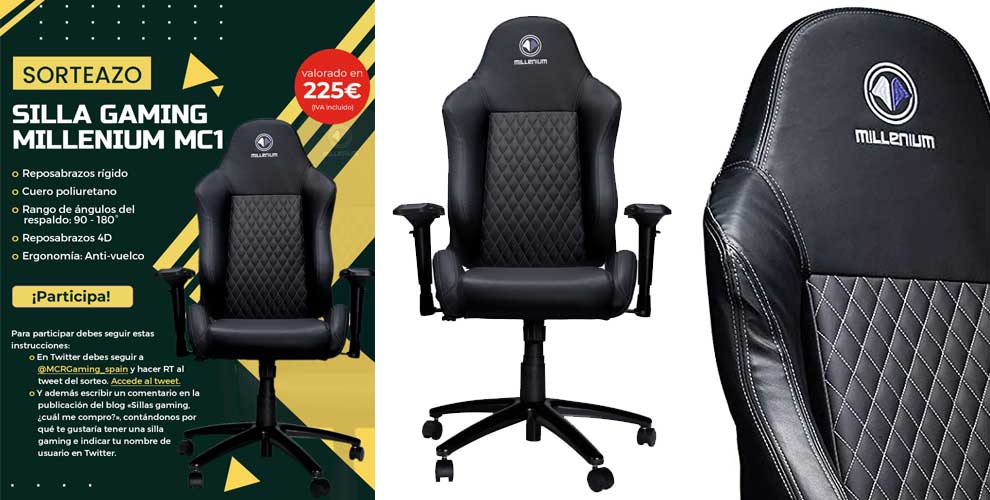 Sorteo silla gaming Millenium MC1 en MCR