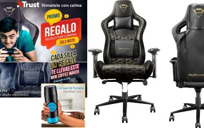 La silla gaming Trust GTX 712 Resto Pro que viene con regalo