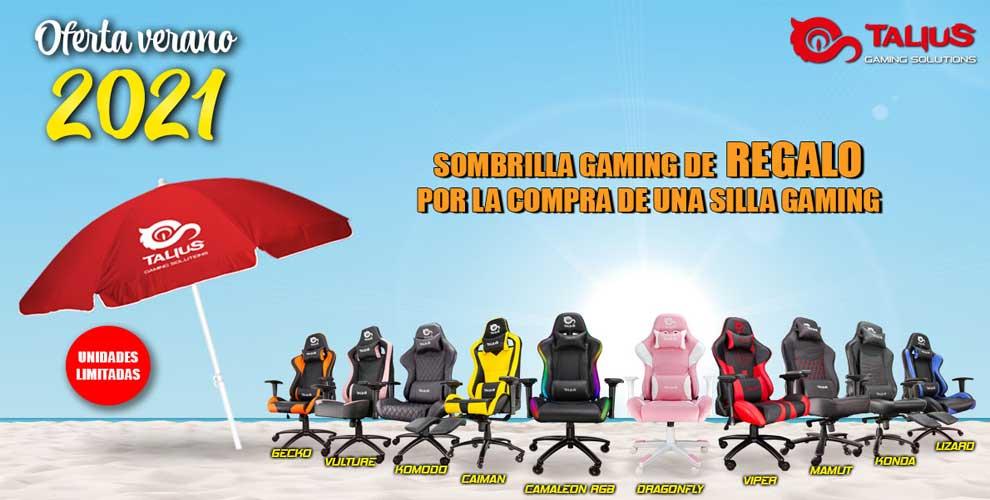 compra silla gaming talius y llévate una sombrilla