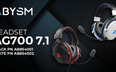 Abysm gaming Auriculares AG700 PRO 7.1 Black o White