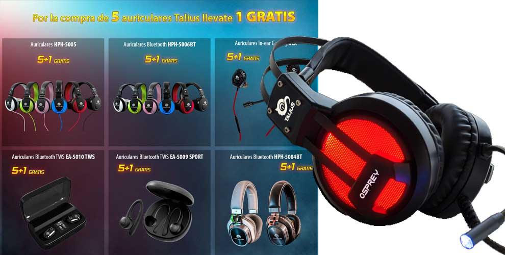 Promoción auricular gaming Talius