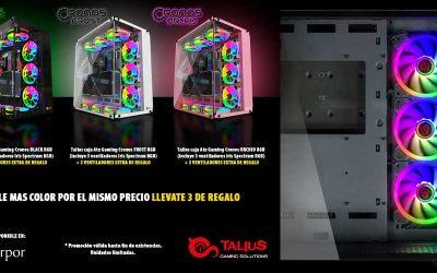 Con Talius dale más color a tu PC Gaming llevándote tres ventiladores de regalo